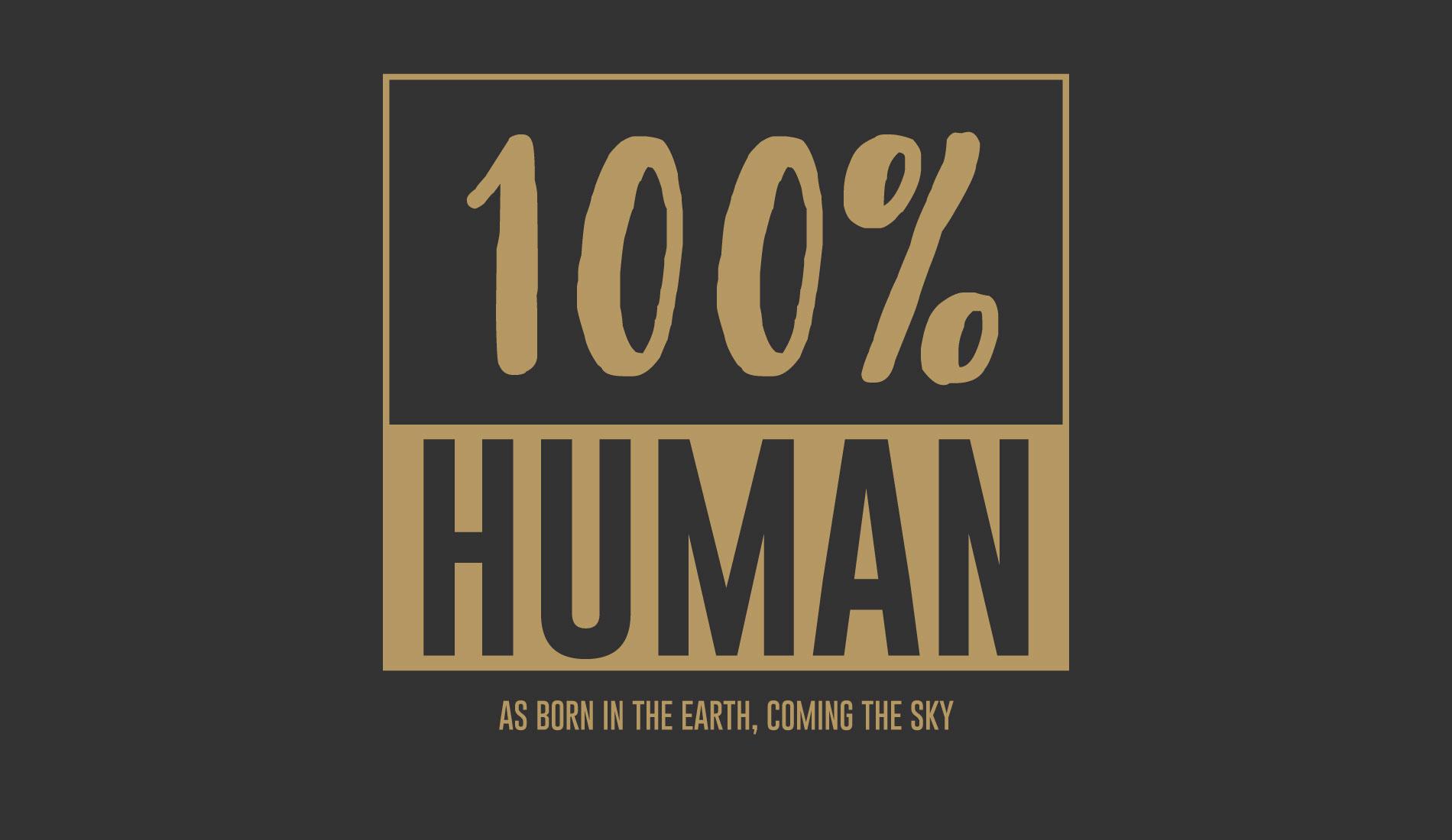 100% Human, camisetas com frase da Rockfella coleção Society.