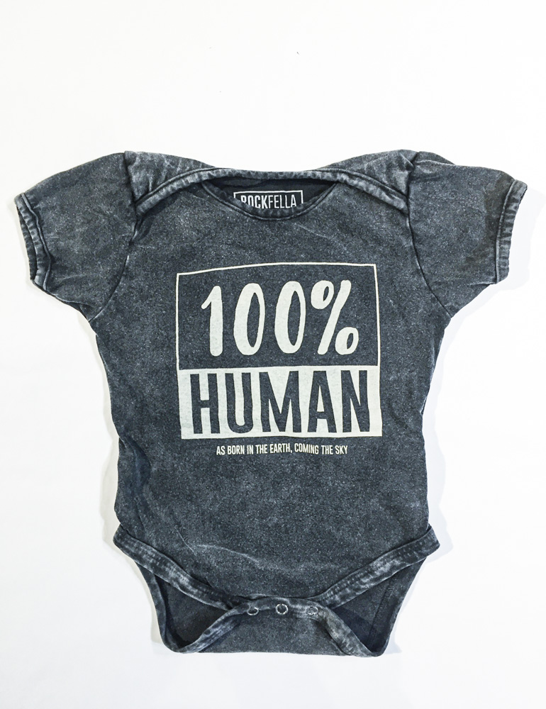 Body infantil 100% Human