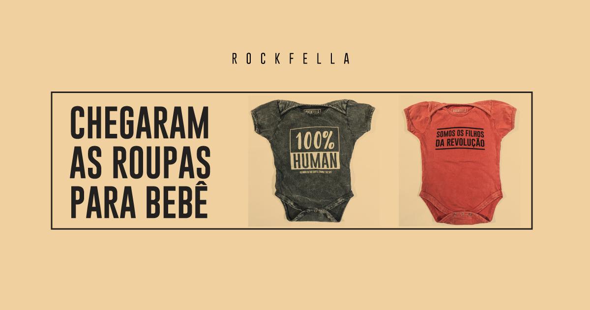 Roupas para bebês da marca Rockfella